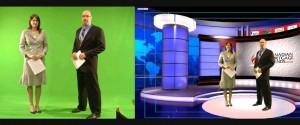 chroma key para plató de televisión y noticias.